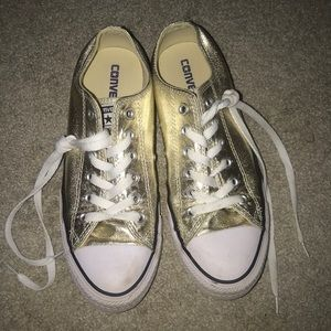 Gold Low Top Converse